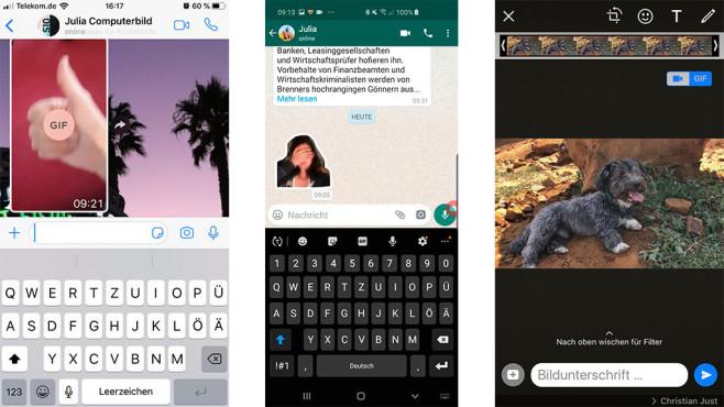 WhatsApp GIF©Screenshot: COMPUTER BILD