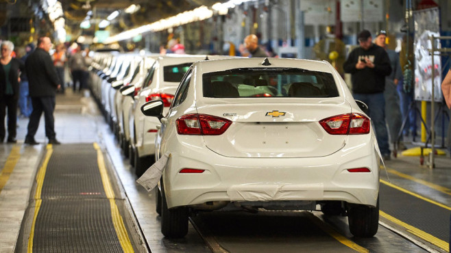 Fließband von General Motors©General Motors