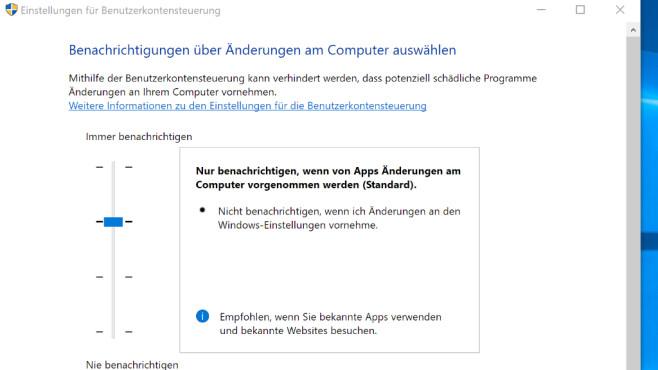 Windows 7/8/10: UAC-Stufen – welche Einstellung ist die richtige?©COMPUTER BILD