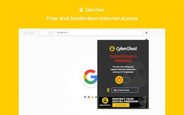 Chrome-VPN: Add-ons zum anonymen Surfen Die CyberGhost-Extension für Google Chrome ist nicht nur gratis, sondern bietet zudem unbegrenzten Datenverkehr.©CyberGhost