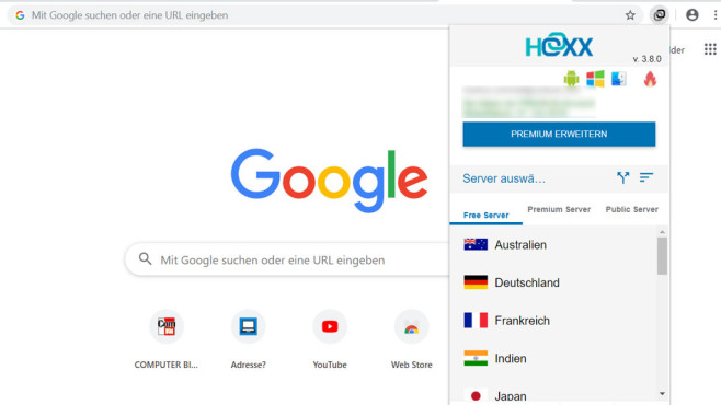 Hoxx VPN Proxy für Chrome©COMPUTER BILD