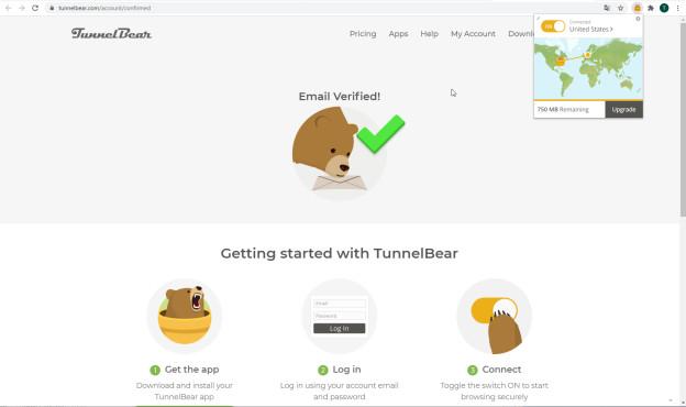 TunnelBear: Länderauswahl©TunnelBear