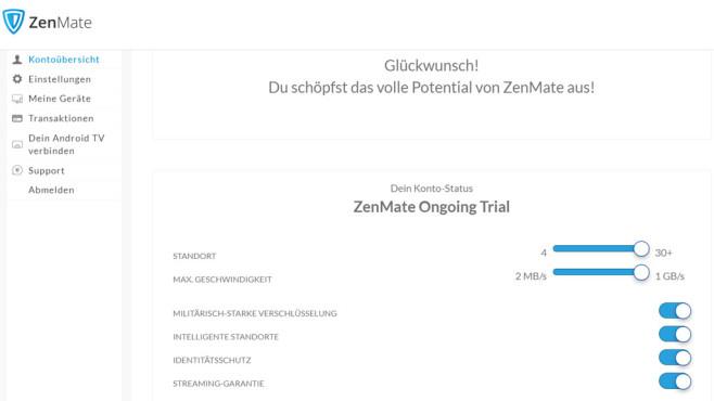ZenMate: Ultimate-Version testen©COMPUTER BILD
