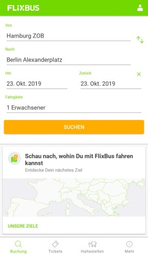 FlixBus (App für iPhone & iPad)