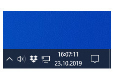Screenshot 1 - Sekunden für die Windows-10-Uhr