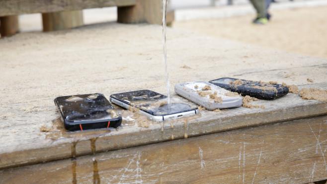 Wasserstrahl auf das S52©COMPUTER BILD