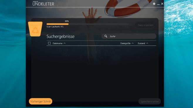 Suche nach gelöschten Dateien ©COMPUTER BILD
