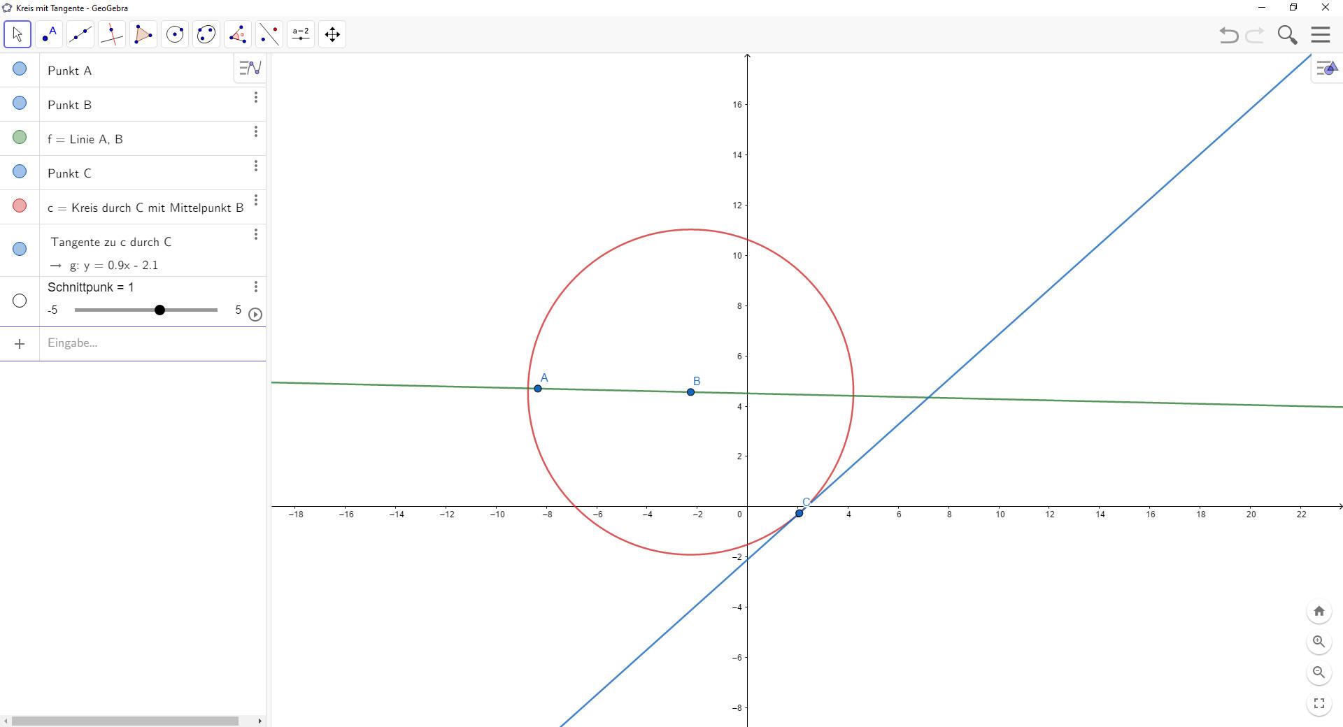 Screenshot 1 - GeoGebra Classic