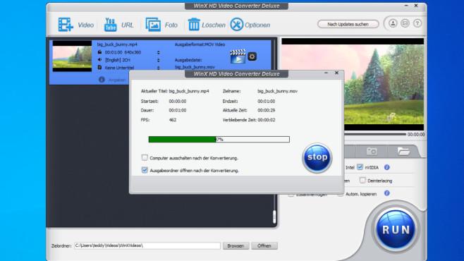 Gratis-Vollversion zum Download: WinX HD Video Converter Deluxe Mit WinX HD Video Converter Deluxe vollziehen Sie Dateiumwandlungen mit wenigen Klicks.©COMPUTER BILD