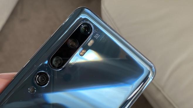 Xiaomi Mi Note 10: Rückseite mit Kameralinsen©COMPUTER BILD