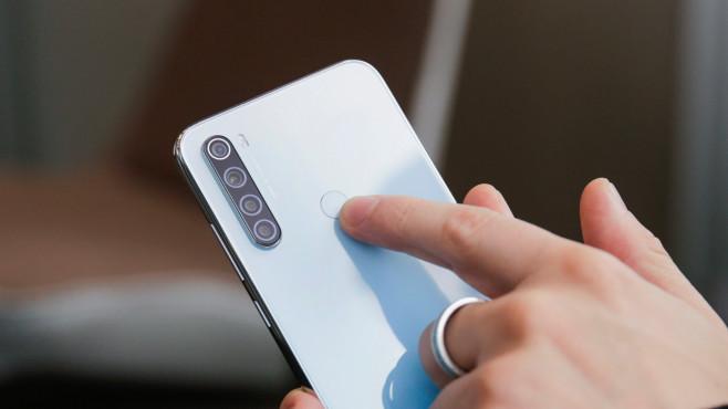 Xiaomi Redmi Note 8T: Rückseite mit Fingerabdrucksensor©COMPUTER BILD