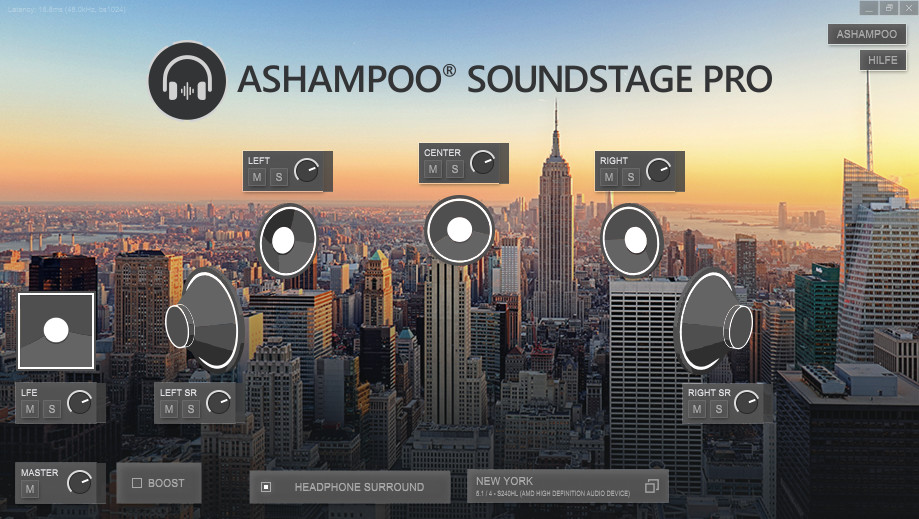 Screenshot 1 - Ashampoo Soundstage Pro