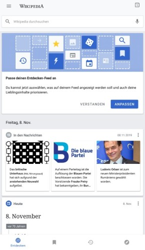 Wikipedia (App für iPhone & iPad)