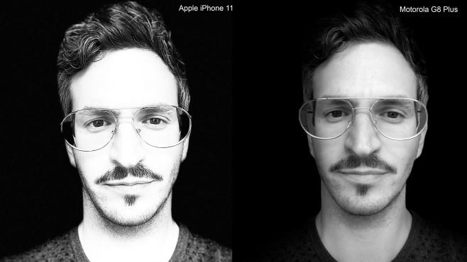 Bokeh Effekt im Vergleich zwischen iPhone 11 und Motorola G8 Plus©COMPUTER BILD