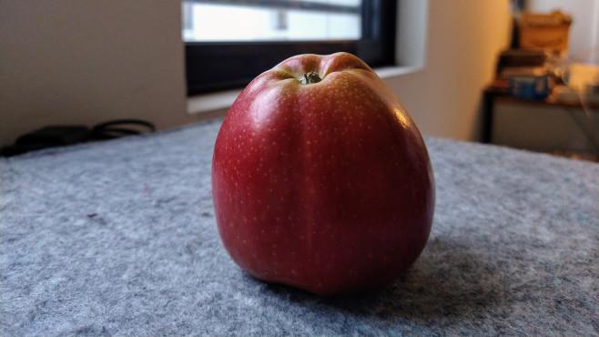 Nahaufnahme eines Apfels©COMPUTER BILD