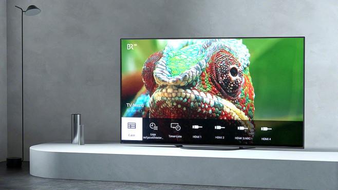 OLED-Fernseher Sony AG8 im Test: Der Preisbrecher Für wichtige Funktionen wie Eingangswahl, Favoritensenderliste und Bildeinstellungen gibt es bei Sony-Fernsehern schnell erreichbare Kurz-Menüs.©Sony, COMPUTER BILD