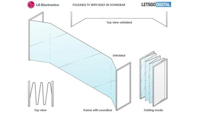 LG: Kommt der faltbare OLED-Fernseher? So sieht der faltbare LG-TV aus. Ob die Technik jemals erscheint, bleibt ein Rätsel. (Quelle: )©LG / LetsGoDigital