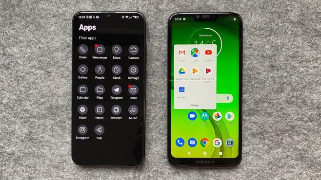 Volla Phone: Das Hauptmenü im Vergleich zum Android©COMPUTER BILD