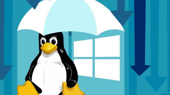 Windows Defender bald auch für Linux©Microsoft, Linus, iStock.com/Feodora Chiosea