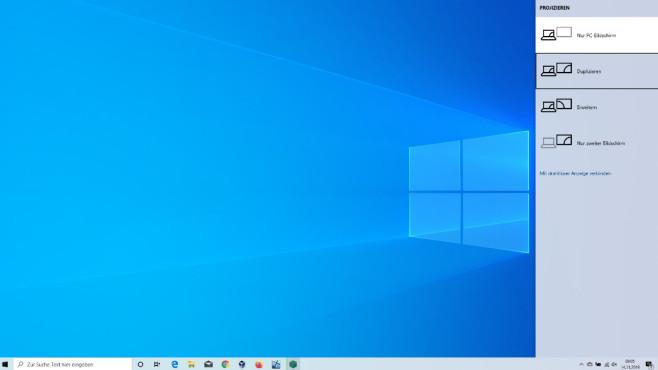 Windows 8.1 und 10: Notebook in PC verwandeln – wenige Kabel genügen Die für den Einsatz mehrerer Monitore aufrufbare Konfigurationsleiste erreichen Sie außer per Tastenkombination, indem Sie Windows-R drücken und displayswitch eingeben.©COMPUTER BILD