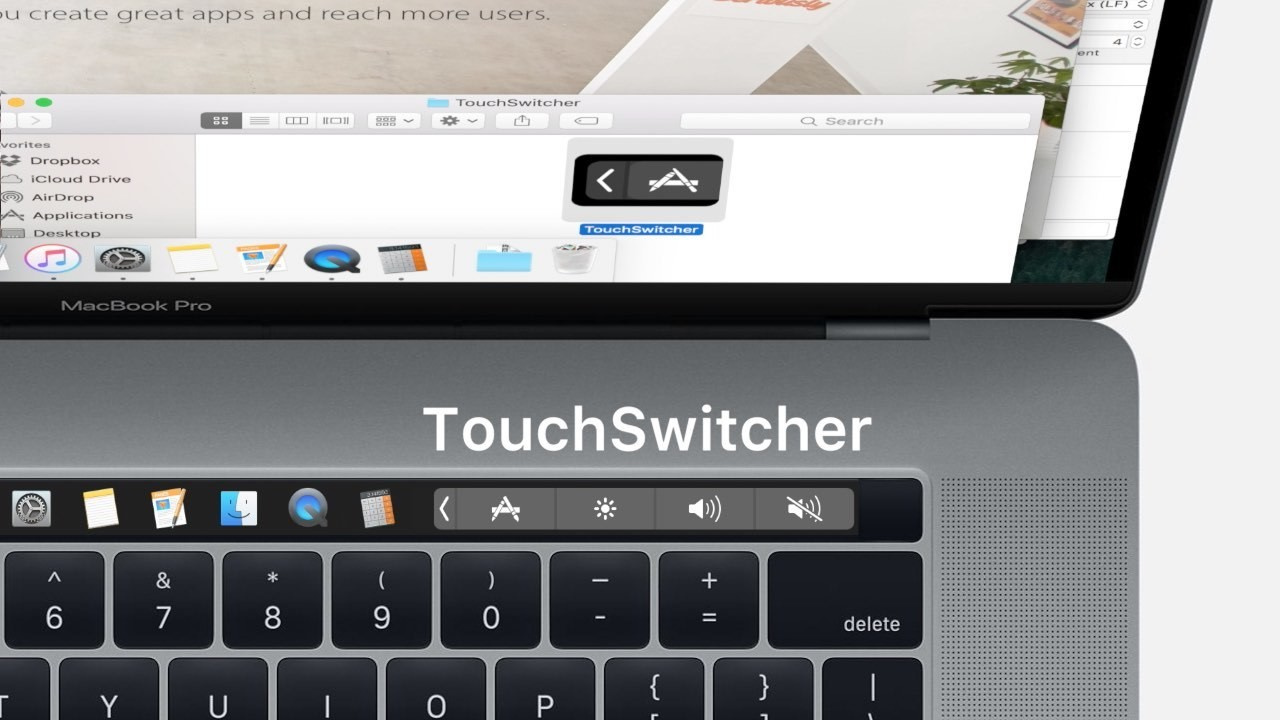 Screenshot 1 - TouchSwitcher (Mac)