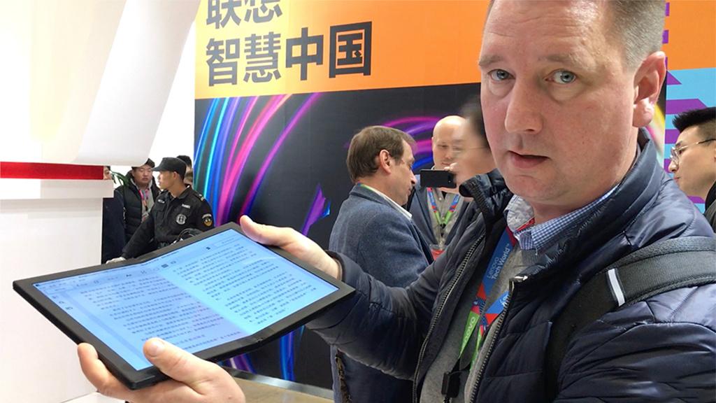 Lenovo Foldable ThinkPad X1: Faltbares Notebook im ersten Check