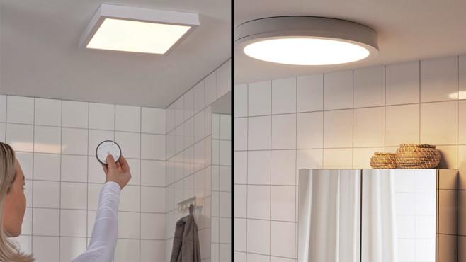Gunarp-Lampen von IKEA im Badezimmer ©IKEA