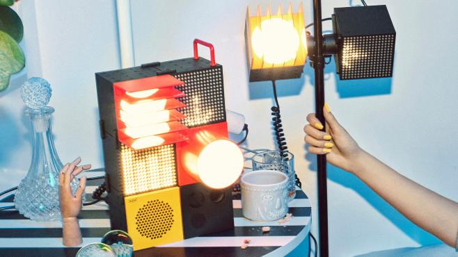 """Lautsprecher und Lampen aus der """"Frekvens""""-Serie. ©IKEA"""