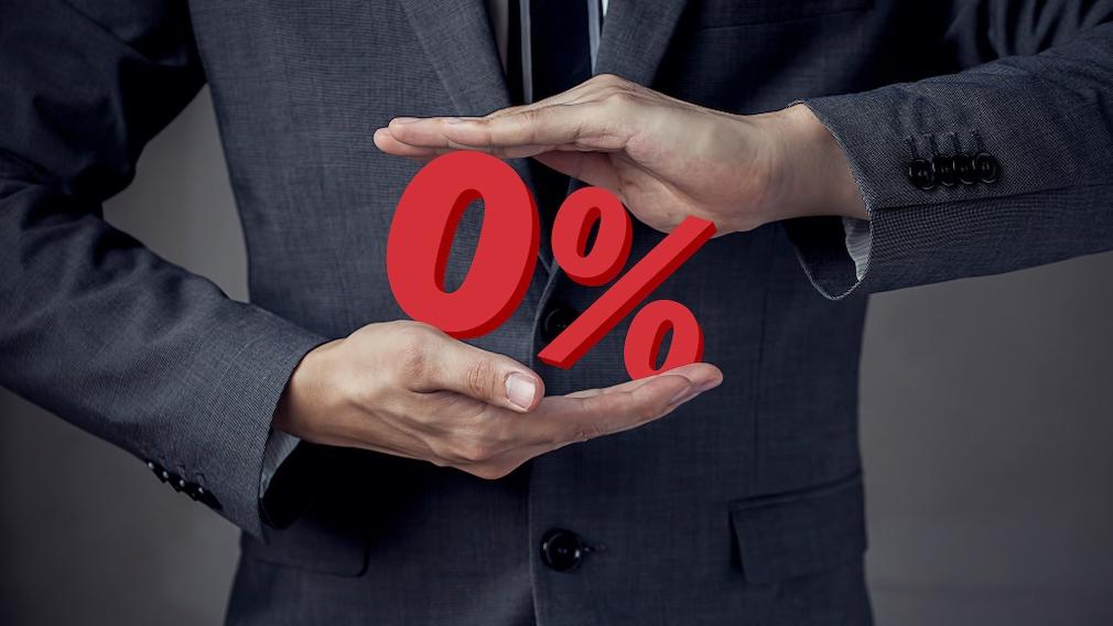 Negativzins-Kredit abschließen und sparen