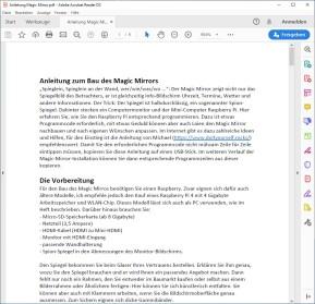 Raspberry Pi: Magic Mirror selber bauen (Anleitung als PDF)