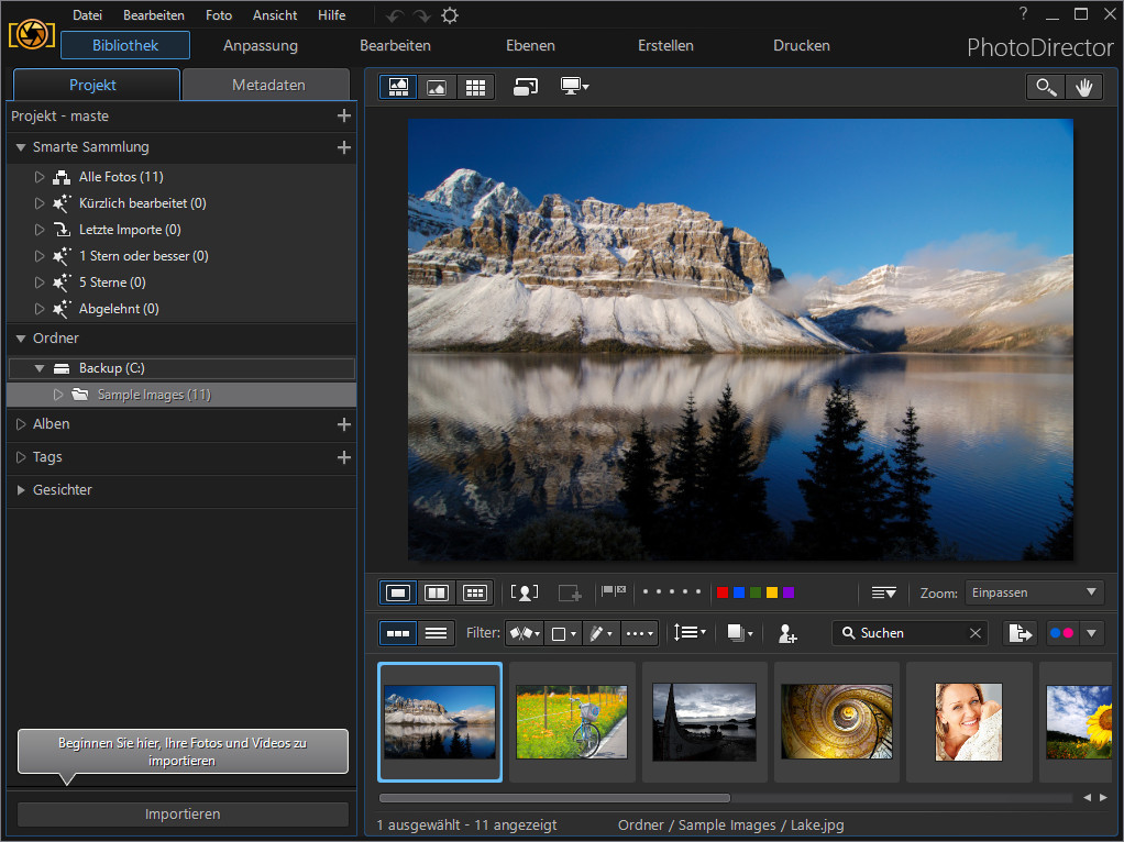 Screenshot 1 - PhotoDirector 9 DE – Kostenlose Spezial-Version