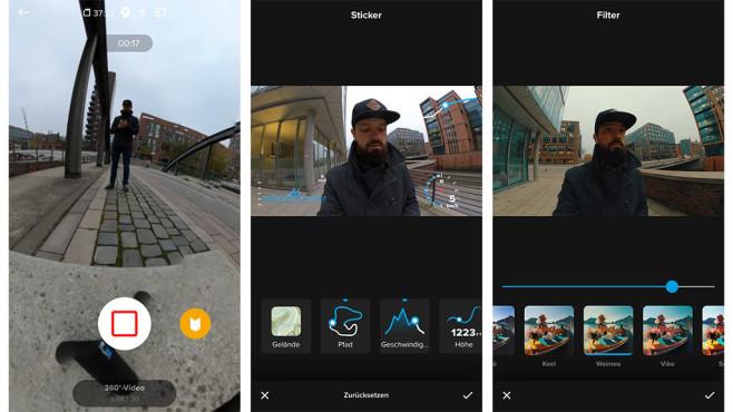 GoPro Max App©COMPUTER BILD