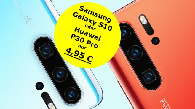 668 Euro sparen: Samsung Galaxy S10 oder Huawei P30 Pro mit Vodafone-LTE-Flat©Samsung