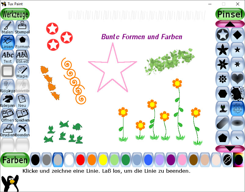 Screenshot 1 - Tux Paint