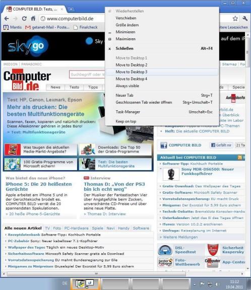 Screenshot 1 - WindowsPager