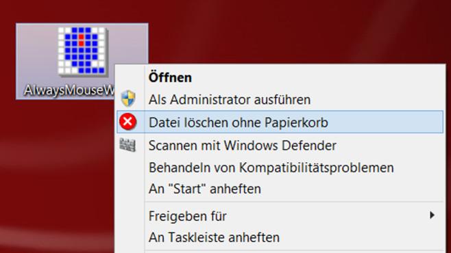 Datei löschen ohne Papierkorb ©COMPUTER BILD