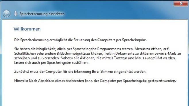 Spracherkennung von Windows einrichten ©COMPUTER BILD