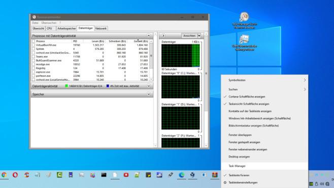 Task-Manager durch Ressourcenmonitor ersetzen ©COMPUTER BILD