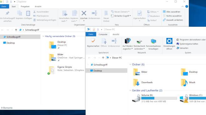Windows-10-Explorer: Klassische Ansicht ©COMPUTER BILD