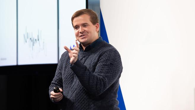 Brandon Barbello bei Google AI in Action 2019©Google