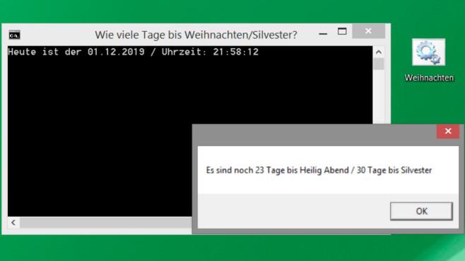Windows 7/8/10: Adventskalender programmieren – in Batch©COMPUTER BILD