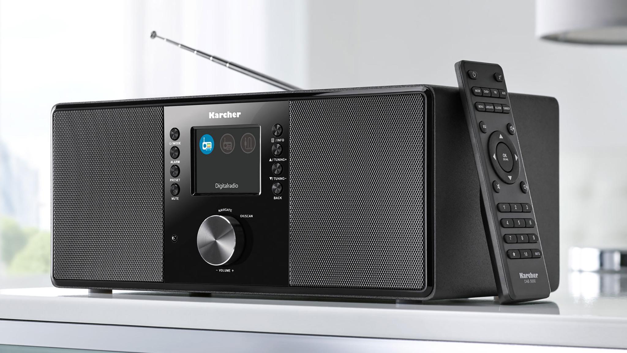 dab radio im test karcher dab 5000 computer bild. Black Bedroom Furniture Sets. Home Design Ideas