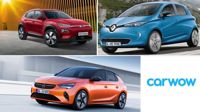 Reichweitenstarke E-Autos©Carwow, Hyundai, Renault, Opel