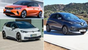 Reichweitenstarke E-Autos©Renault, Opel, VW