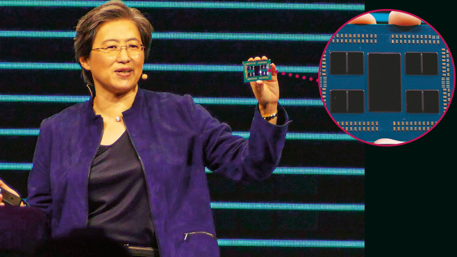 Dr. Lisa Su mit AMDs Ryzen Threadripper 3990X © AMD