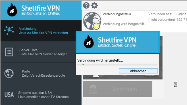 Shellfire VPN: 60 Server in 37 Ländern © Shellfire