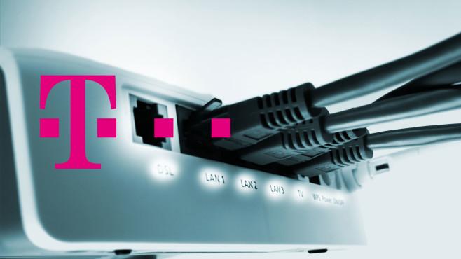 Telekom-Router mit Kabeln©Deutsche Telekom, iStock.com/deepblue4you