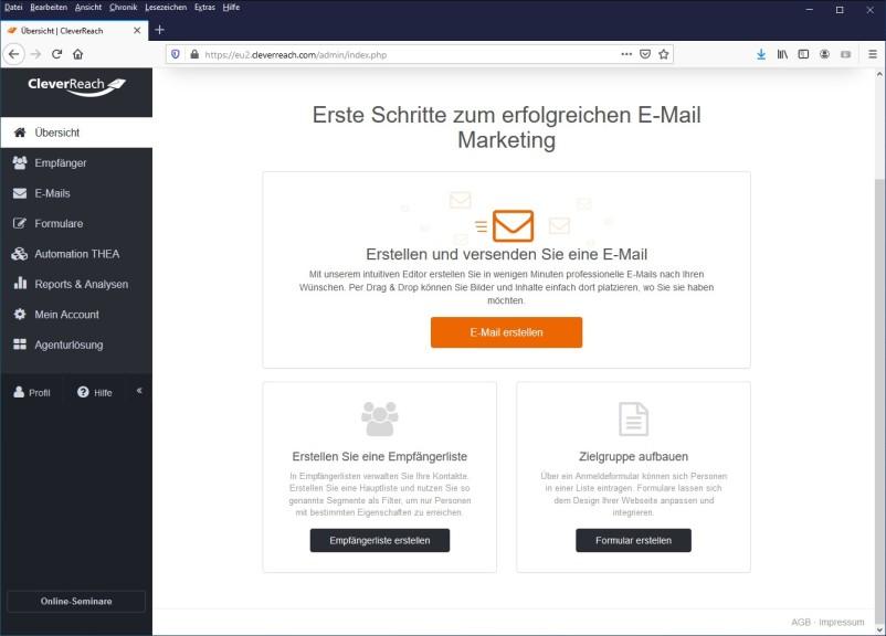Screenshot 1 - CleverReach