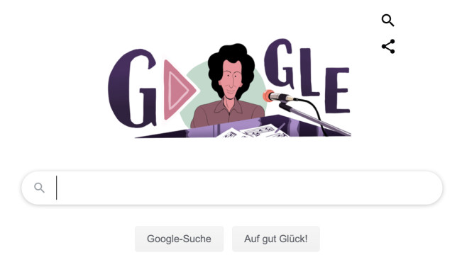 Google Doodle für Michel Berger©Google
