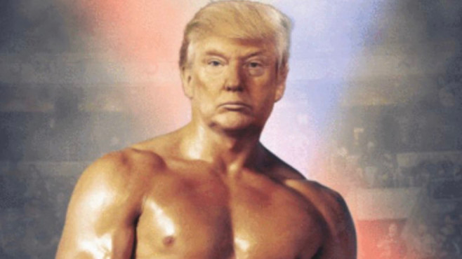 Twitter-Kanal: US-Präsident Donald Trump als Rocky©Twitter